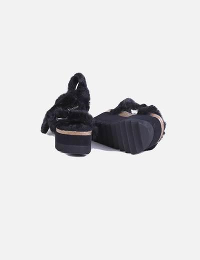Sandalias plataforma pelo negro