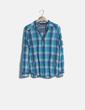 Camisa cuadros azul Zara