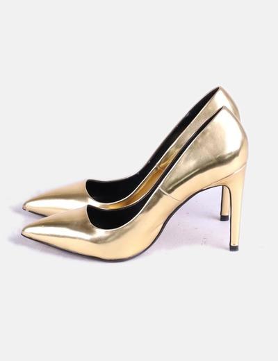 72 Dorado Micolet Zapato Zara descuento Tacón HwfY6nqI