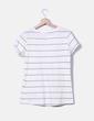 T-shirt beige rayé H&M