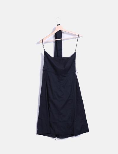 255a171c3 Mango Vestido negro básico palabra de honor (descuento 88%) - Micolet