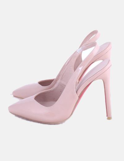 Zapato rosa acharolado