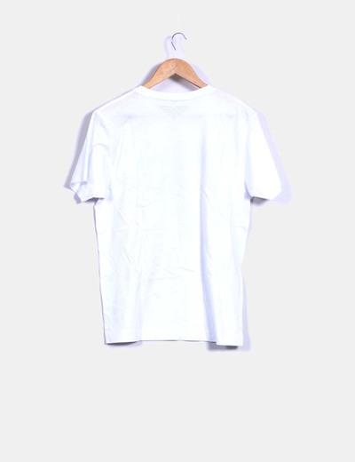 Camiseta blanca print sabotaje by marc jacobs