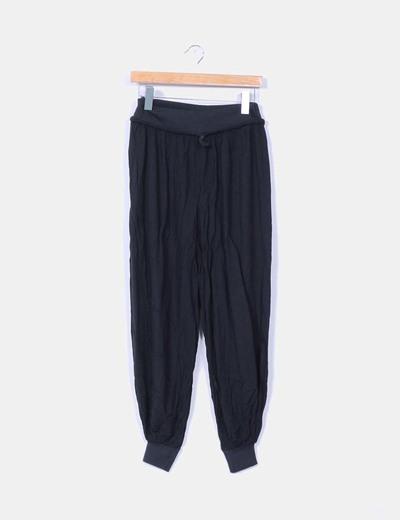 Pantalón baggy fluido negro NoName