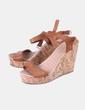 Sandales marron compensées Suiteblanco