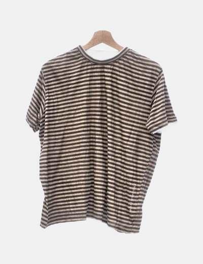 Camiseta marrón de rayas