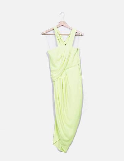 Vestido midi verde Asos
