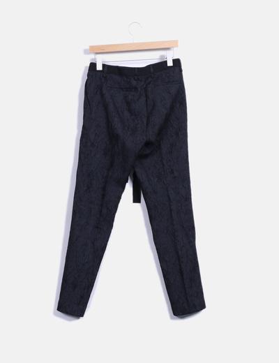 Pantalon texturizado de pinzas