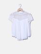 Blusa blanca con crochet Zara