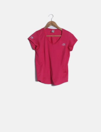 Camiseta deportiva rosa