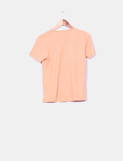 Jersey naranja manga corta