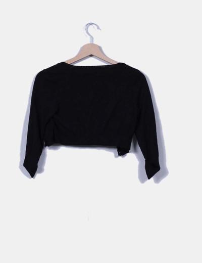 Cardigan mini negro
