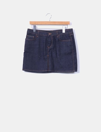 Mini falda denim oscura Zara