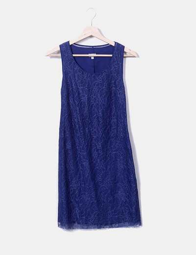 Robe bleue à bretelles Hoss Intropia