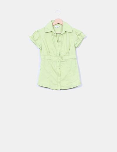 Camisa verde lima Stradivarius