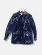 Chubasquero azul marino de plástico Pull&Bear
