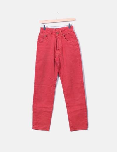 Jeans rouges taille haute Chipie