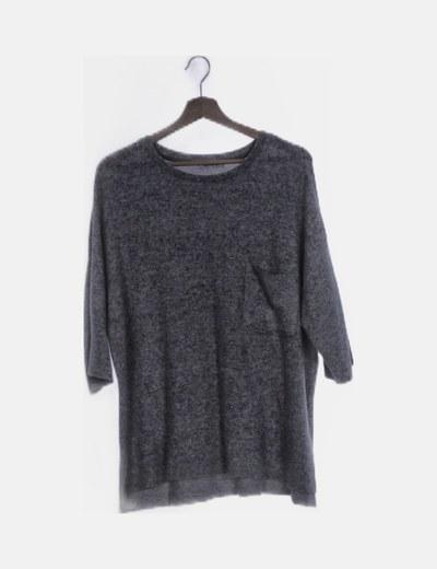 Camiseta gris tacto suave