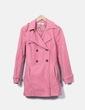 Gabardina rosa con cinturón Zara