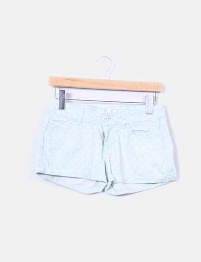 Shorts verde mint topos