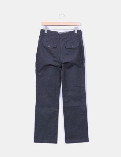 Pantalon gris jaspeado