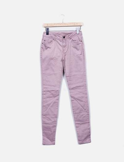Jeans pitillo rosa Denim Co.