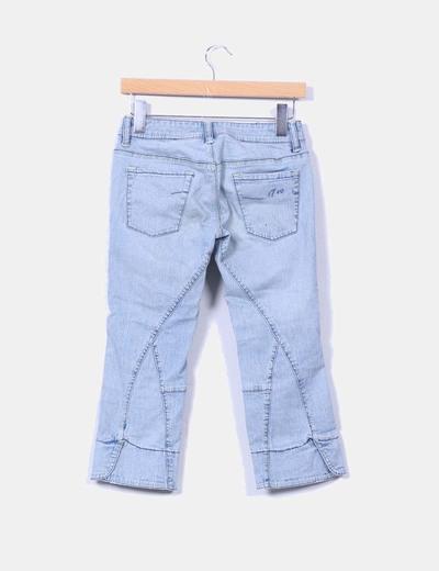 Jeans denim pirata azul claro
