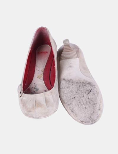Zapato beige print lazo