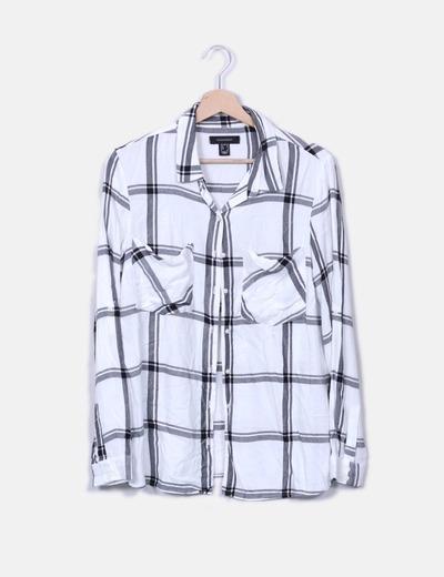 Camisa blanca cuadros Primark