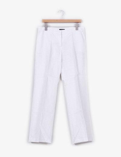 Pantalón de lino blanco con brillos plata  Sinéquanone
