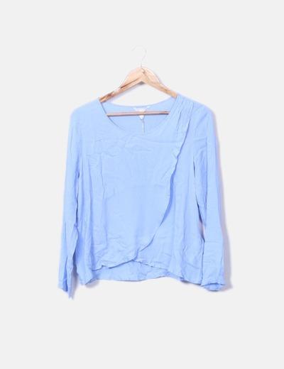 Chemise bleue texturé Springfield