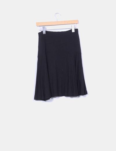 Falda negra de lyocell