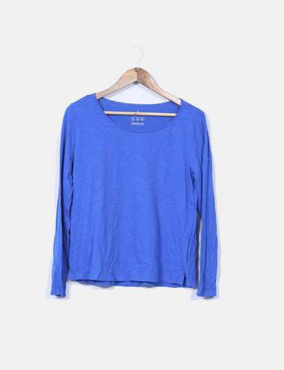 Camiseta azul klein básica Stradivarius