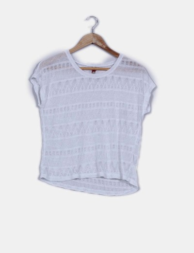 Top blanco punto  Stradivarius