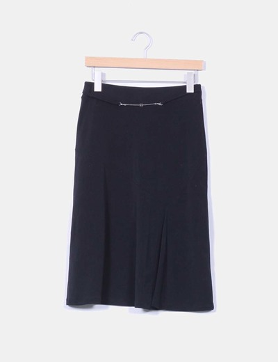 Falda midi negra  Cashil