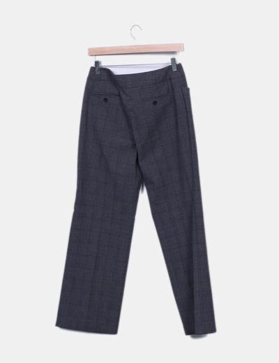 51e4d87a0a Mango Pantalón chino gris de cuadros (descuento 88%) - Micolet