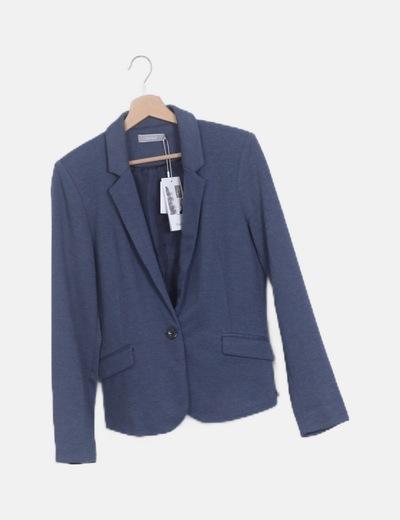 Blazer azul entallada