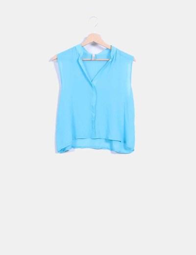 Blusa corta azul turquesa FB Sister
