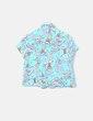 Camisa turquesa floral Kimoa