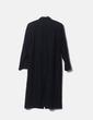 Abrigo largo negro de lana NoName