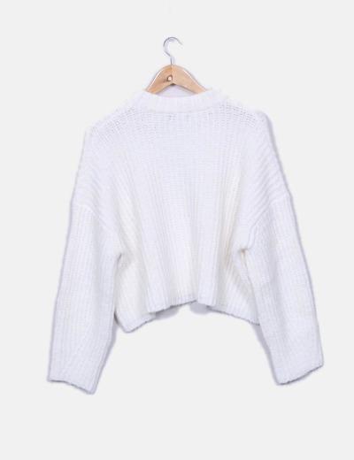 Jersey de punto blanco oversize
