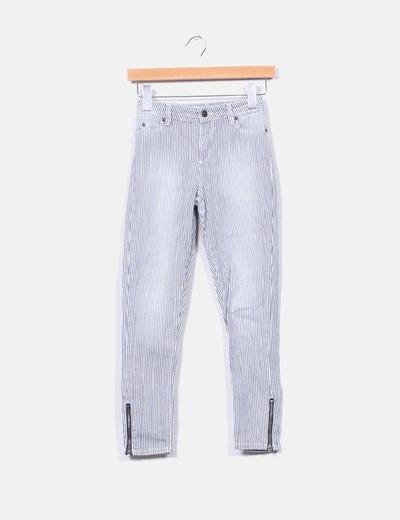 Pantalón de rayas pitillo cintura alta Subdued