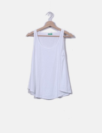 e7917b26c Benetton Camiseta blanca lisa (descuento 81%) - Micolet