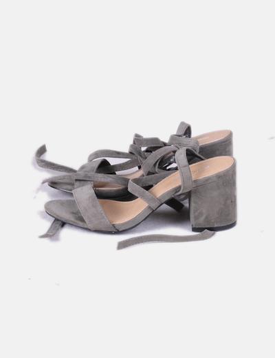 Sandales à talons vertes lacets Public Desire