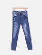 Jeans pitillos ripped Green Coast