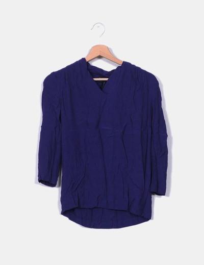 Blusa azul klein Mango