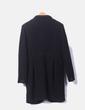 Abrigo negro de paño Primark