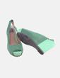 Sandalia de cuña verde bicolor Xti