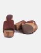 Zueco de madera granate Zara