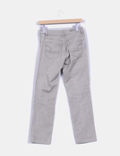 Pantalon recto gris piedra